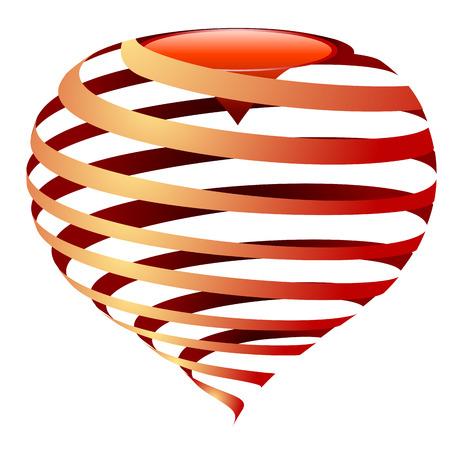 streaked: vector striped heart Illustration
