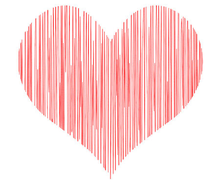 lovingly: vector heart - symbol of love Illustration