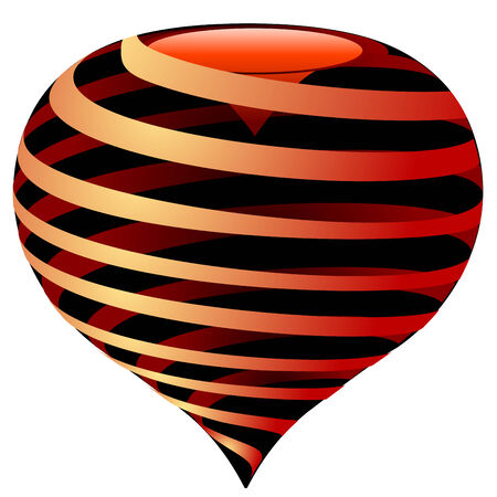 lovingly: vector striped heart Illustration