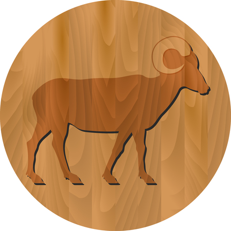 zodiac sign: Chinese New Year - Goat Year - zodiac sign Illustration