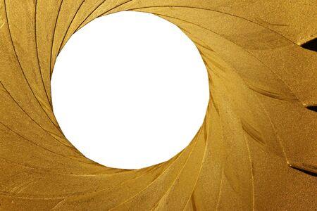 layer masks: old aperture - light curtain - focus Stock Photo