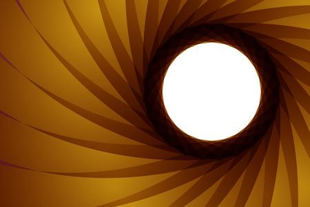 Vector illustration of the aperture -  exposure diaphragm 向量圖像