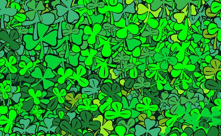 find four-leaf clover for luck Vector