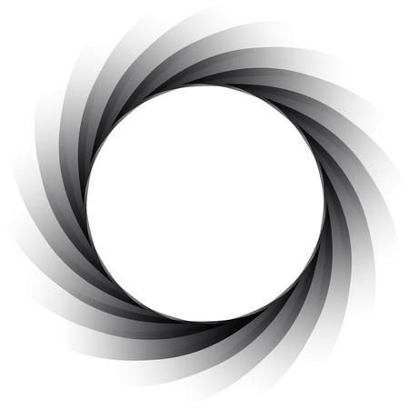 viewfinder: Vector aperture -  exposure diaphragm - focus