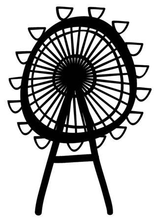big wheel: Vector  ferris wheel Illustration