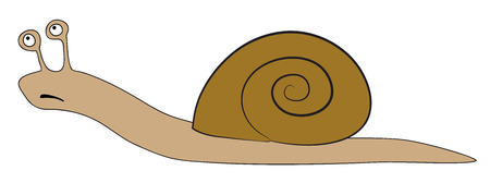 quickness: Vector snail - slowly animal