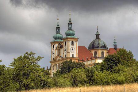visitation: The Basilica Minor of the Visitation of the Virgin Mary on the Holy Hill near Olomouc Stock Photo