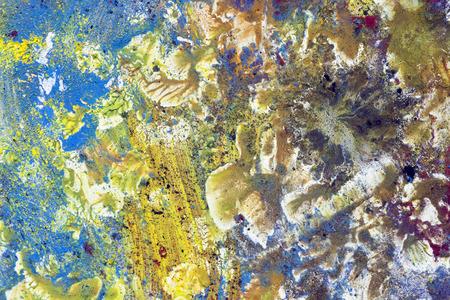 splotches: colored pigments - macro