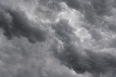 lurid: Shot of the dark ominous clouds - rainy clouds Stock Photo