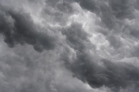 ominous: Shot of the dark ominous clouds - rainy clouds Stock Photo