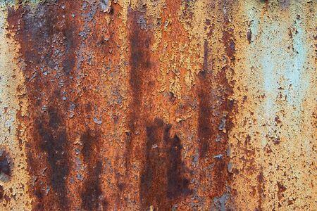 flaky: old rusty metal  flaky paint