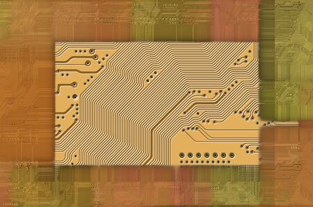 manipulated: printed circuit  motherboard  abstract technology background