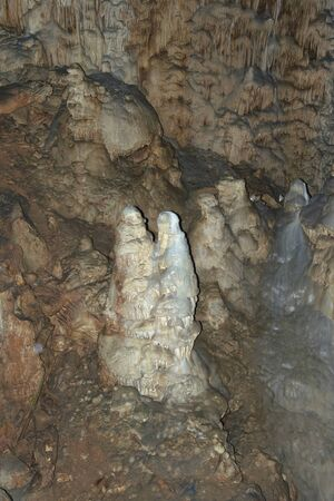 calcareous: stalactite cave