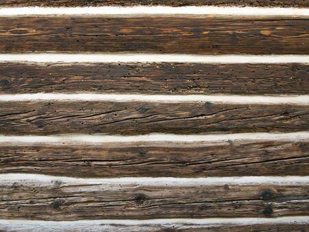 spiraglio: parete della struttura di legno chalet in legno