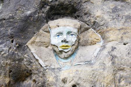 sphinx: Sphinx  rock sculptures of giant head of Sphinx