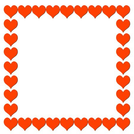 amorousness: Frame from hearts - vector