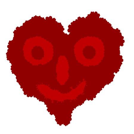 curare teneramente: illustrazione vettoriale del cuore - simbolo di amore - fantasma d'amore