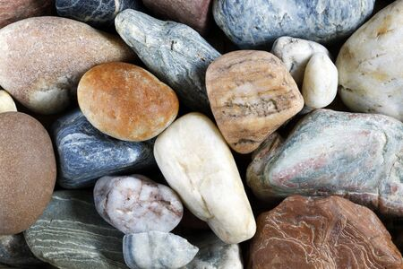 pebblestone: sea pebbles - gravel stones Stock Photo