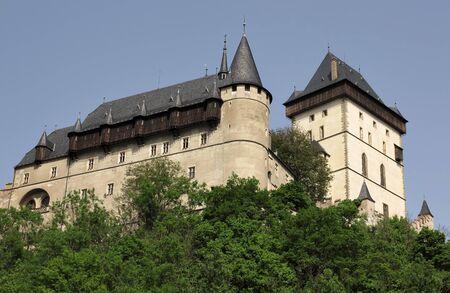 crenelation: Karlstejn Castle - gateway and watch tower Editorial