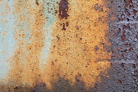chippy: old rusty metal - flaky paint