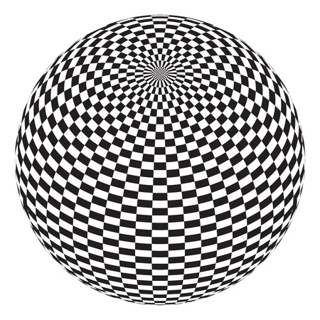 symetry: vector illustration of the squares on the balls