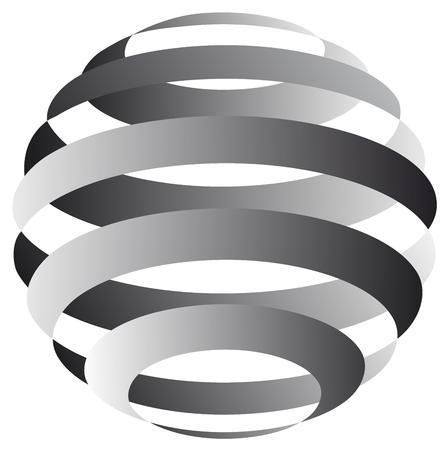streaks: Vector sphere from streaks Illustration