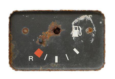 thrash: old and broken fuel contents gauge