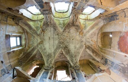 disrepair: Ruins of the Chateau Brnk - detail of ceiling