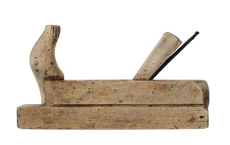 wood planer: Hand tool - wood planer on white background