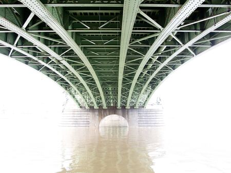 superstructure: Under the bridge in fog - bridge structure