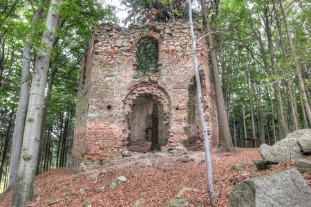 pilgrimage: Ruins of the Baroque pilgrimage chapel of Saint Mary Magdalene Stock Photo
