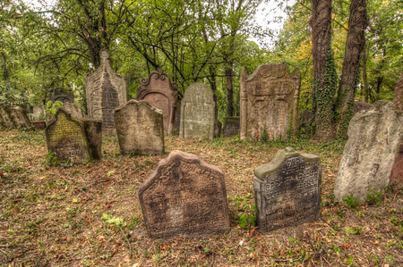 rabi: Old  cemetery at Kolin Stock Photo