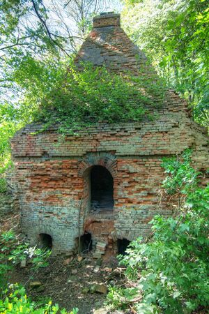 brick kiln: Old abandoned brick furnace from 1850