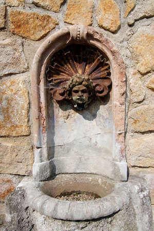 well head: Detail of the old decorative drinking fountain