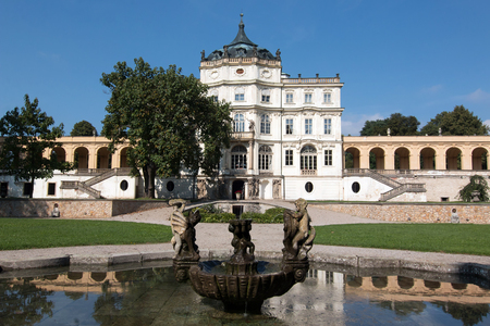 famous: Poskovice castle - famous Baroque castle Stock Photo