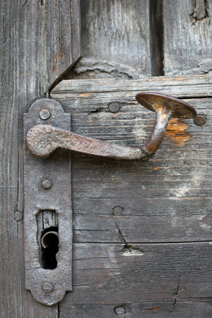 door handle: Old iron door handle
