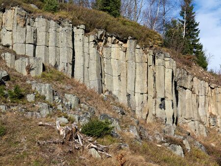 ore: Old basalt quarry in The Ore Mountains Stock Photo