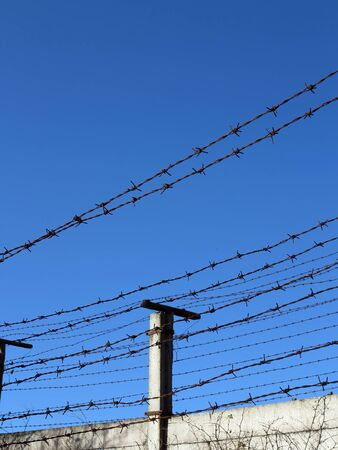 enclose: Abstract image of the barbed wire