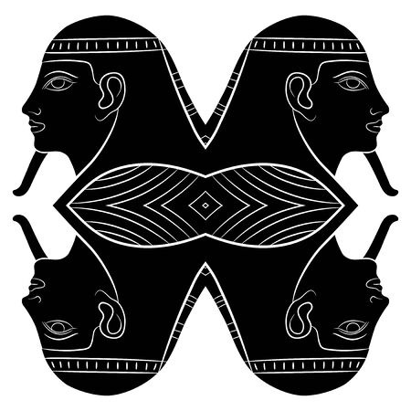 esfinge: Esfinge - criatura mitológica del antiguo Egipto  Foto de archivo