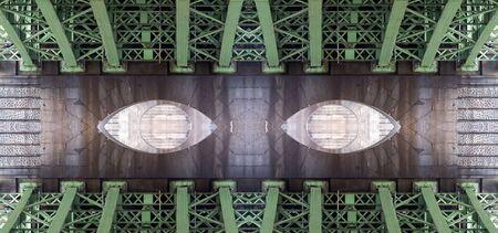 superstructure: Conceptual image - under the bridge - bridge structure - digitally altered