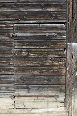 damaged: Old and damaged wooden door Stock Photo