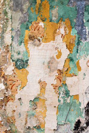 flaw: Cracked plaster - fine cracks - grunge background Stock Photo