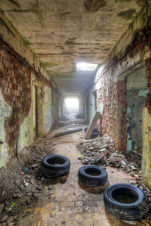 derelict: Abandoned ruins - derelict building Stock Photo