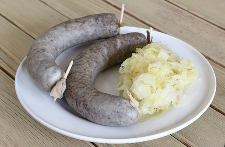 chitterlings: Sausage with sauerkraut - favorite hog killing delicacy