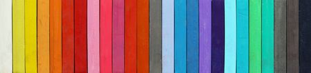 gamut: Color range - macro - detail of the colored pastels