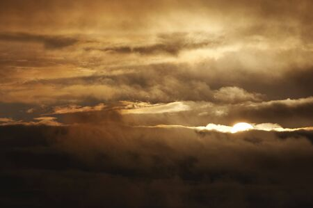 mood moody: Sky and clouds at sunset after storm