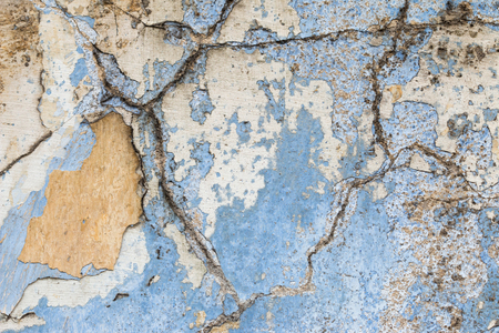 cranny: Detail of the cracked plaster - grunge texture