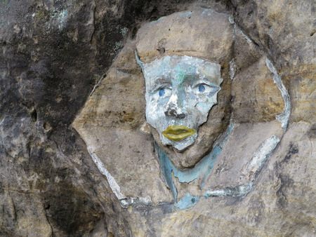 sphinx: Alivio de la roca - la cara de la Esfinge Foto de archivo