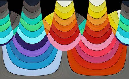 color spectrum: Abstract composition - colorful shapes - color spectrum