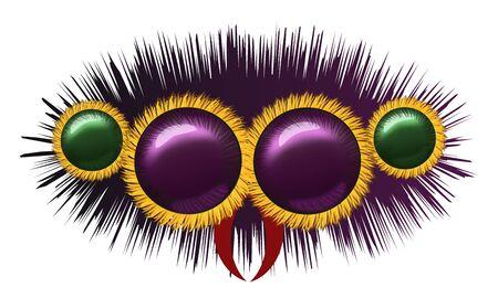 arachnoid: Eyes of huge hairy spider